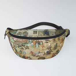Pieter Bruegel the Elder Children's Games Fanny Pack