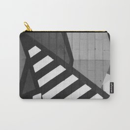 Abstract Art (Black and White) Carry-All Pouch