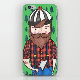Timber Lumberjack iPhone Skin