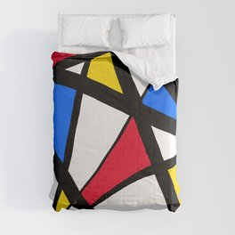 Red, Yellow, Blue Primary Abstract Comforters