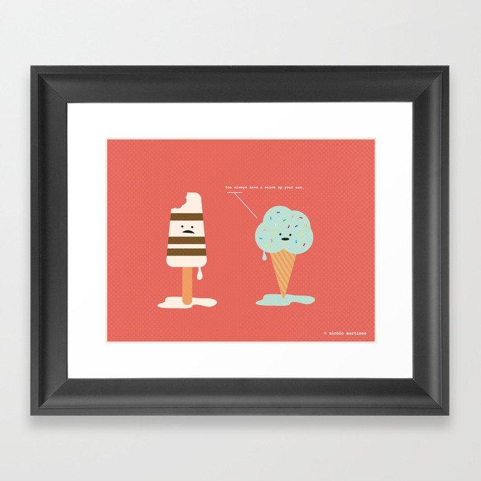 Lighten Up, Popsicle.  Framed Art Print
