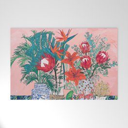 The Domesticated Jungle - Floral Still Life Welcome Mat