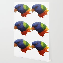 Low Poly Parrot Wallpaper