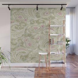 batik paisley warm Wall Mural