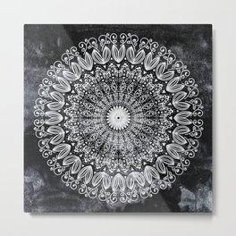ORGANIC BOHO MANDALA Metal Print