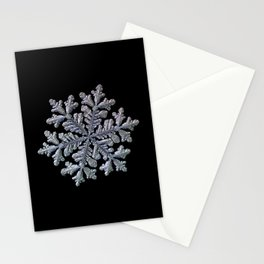 Real snowflake - Hyperion black Stationery Cards