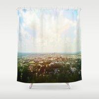 alabama Shower Curtains featuring Birmingham, Alabama by Emily Day