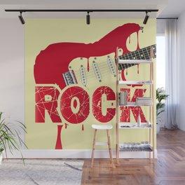 Melting Electric Rock Guitar Wall Mural