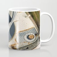 record Mugs featuring Record Player by Shaun Lowe