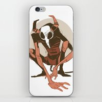 musa iPhone & iPod Skins featuring lurk by musa