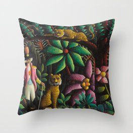 On connaît les amis au besoin (We know the friends that are in need) by O. Bulman Throw Pillow