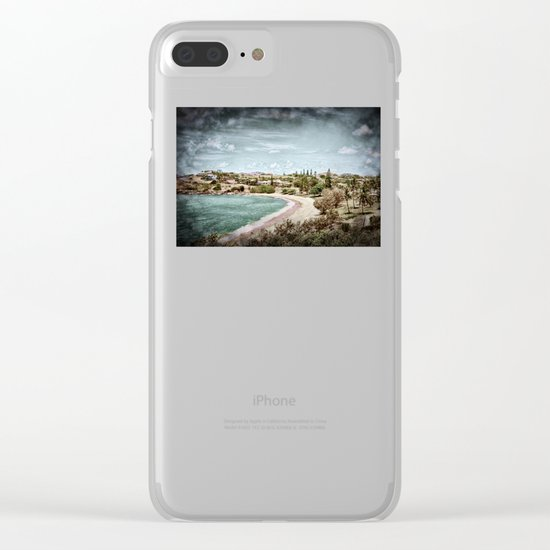 Living by the ocean Clear iPhone Case