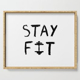 STAY FIT Serving Tray