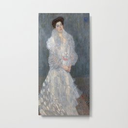 Gustav Klimt - Portrait of Hermine Gallia Metal Print