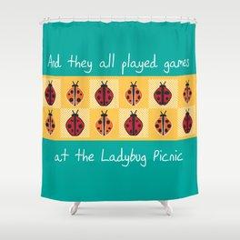 Ladybug Picnic Shower Curtain