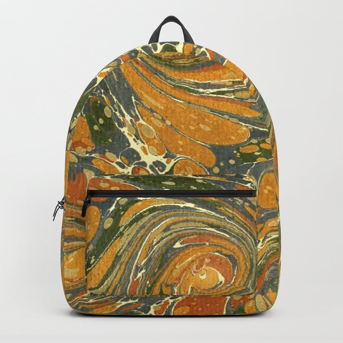 Old Marbled Paper 03 Backpack