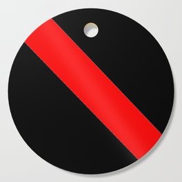 Oblique red and black Cutting Board