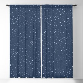 angelica - navy blue textured background with dots Blackout Curtain