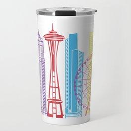 Seattle V2 skyline pop Travel Mug