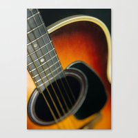 guitar Canvas Prints featuring Guitar by Bruce Stanfield