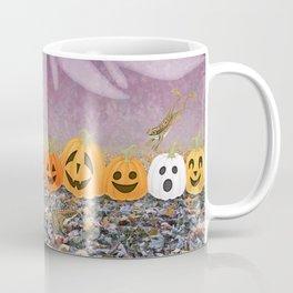 wood frogs, smiling pumpkins, & ghost clouds Coffee Mug