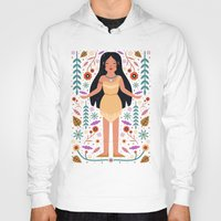 pocahontas Hoodies featuring Pocahontas by Carly Watts