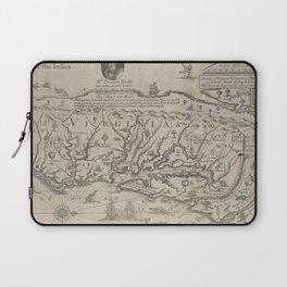 Vintage Map of Virginia (1651) Laptop Sleeve