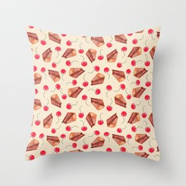 cherries & cakes-cornsilk Throw Pillow
