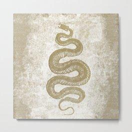 Golden Serpent Metal Print