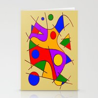 kandinsky Stationery Cards featuring Abstract #206 by Ron Trickett (Rockett Graphics)