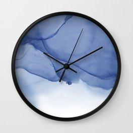 Ocean Ink Wall Clock