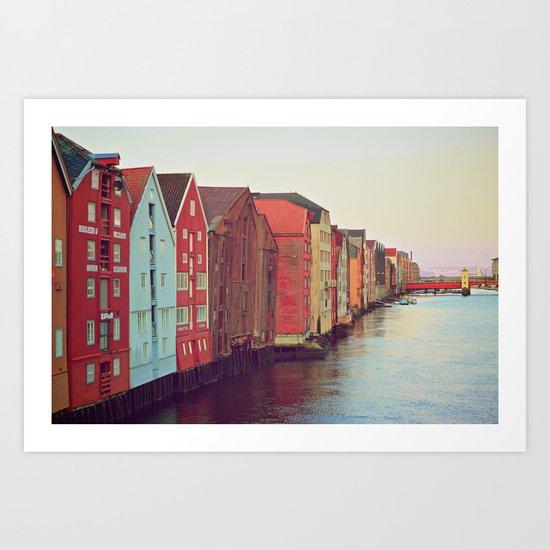Trondheim, Norway Art Print