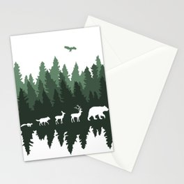 The Walk Through The Forest Stationery Cards