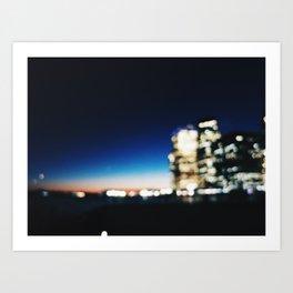 Blurry Night Art Print