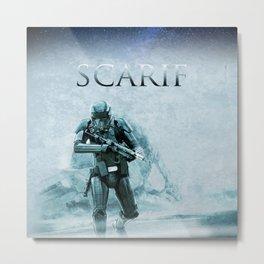 Scarif Planet Metal Print