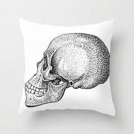 Skull, Profile Throw Pillow