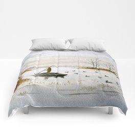 Duck Hunting - The Island Duck Blind Comforters