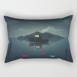 Ships In The Night Rectangular Pillow