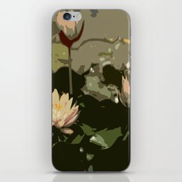 Waterlily Abstract iPhone Skin