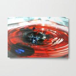Drops of Colour Metal Print