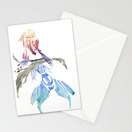 Mermaid on Rock Stationery Cards
