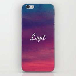 def. conforming to the rules iPhone Skin