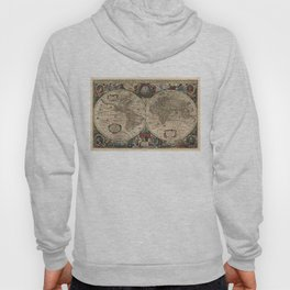 Vintage Map of The World (1641) Hoody