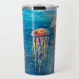 Jelly Fish Fantasy Acrylic Flow Travel Mug