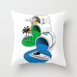 Luxury Paints Throw Pillow