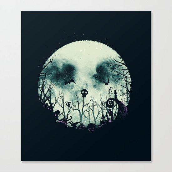 Halloween Town Canvas Print