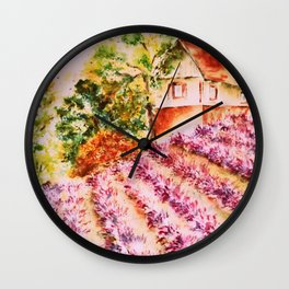 Summer in Provence Wall Clock