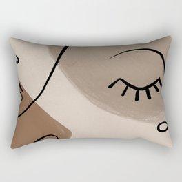 Expressive Faces Rectangular Pillow