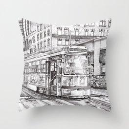 Spadina King (black and white) Throw Pillow