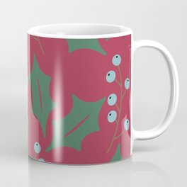 Winter/Christmas - Blueberries And Leaves Coffee Mug